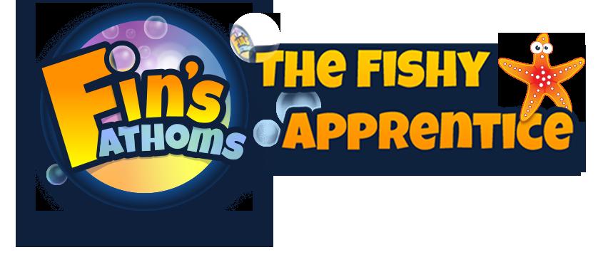 Fin's Fathoms: The Fishy Apprentice logo v3.